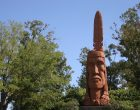 Wooden indian carving in Ocean Springs Mississippi
