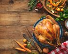 thanksgiving turkey on rustic wooden table